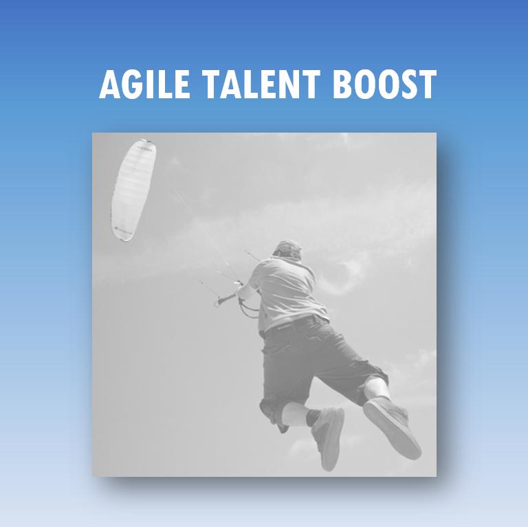 Agile Talent Boost: man maakt sprong door vlieger